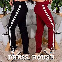 Женские модные штаны с лампасами (4 цвета) кораллово-персиковый, S-M