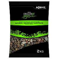 Aquael Aqua Decoris MULTICOLORED GRAVEL натуральный многоцветный гравий 5-10мм, 2кг