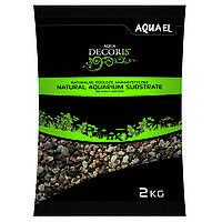 Aquael Aqua Decoris MULTICOLORED GRAVEL натуральный многоцветный гравий 3-5мм, 10кг