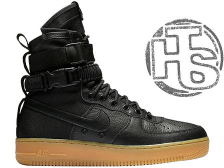 Чоловічі кросівки Nike Special Air Force Field 1 Black 859202-009, фото 2