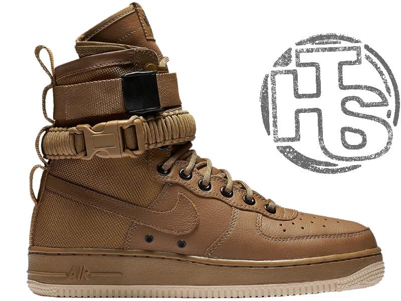 Мужские кроссовки Nike Special Field Air Force 1 Golden Beige 857872-200