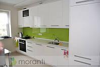 Кухня белая глянцевая серии Глосс со встроенным ТВ, фото 1