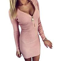 Женское платье с замком на груди