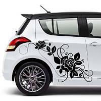 """Наклейка на автомобиль """"Цветы"""", 1 шт."""