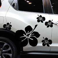 """Наклейки на автомобиль """"Цветы"""", комплект на 2 стороны."""