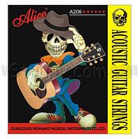 Alice A206SL-6 струна №6 E 0.52 поштучно для акустической гитары
