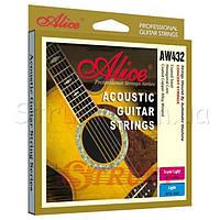 Alice AW432L Струны акустической гитары медные 12/53
