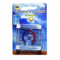 Термометр уличный оконный на липучке квадратный ТКО-120