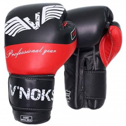 Боксерские перчатки V`Noks Potente Red 14 ун., фото 2
