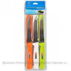 Набор цветных ножей на блистере, 6 предметов PF-802
