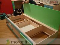 Диван-кровать в детскую с ящиками