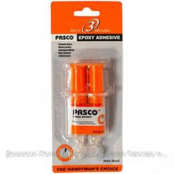 "Клей ""Pasco"" эпоксидный 2-х компонентный 6мл Н-010"