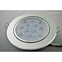 Светильник LED точечный поворотный 12 Вт матовое серебро SW-183 12W  2800-3200K SL