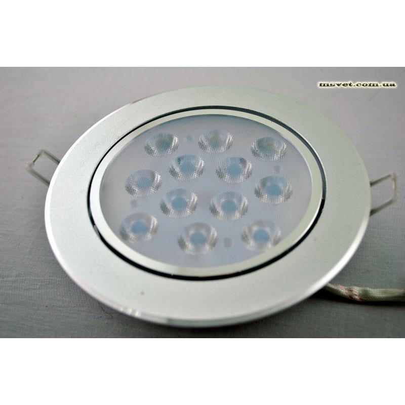 Светильник LED точечный поворотный 12 Вт матовое серебро SW-183 12W  6000-7006K SL
