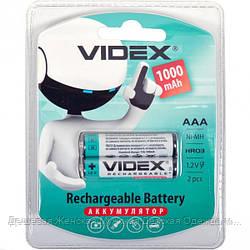 Аккумуляторы VIDEX ААА 1000 перезаряжаемые