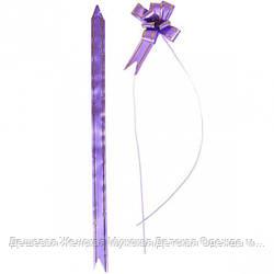 Бант из фиолетового полипропилена 2*32 см, 10 штук