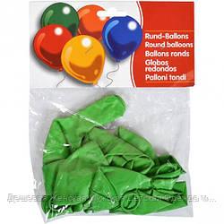 Шарики зеленые по 10 штук, 25см 2,8 г/м²