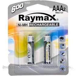 "Аккумуляторы ""Raymax"" HR03 1.2V 600mAh Ni-MH AAA blister/2pcs"