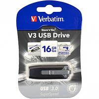 Флешка USB 3.0 16Gb Verbatim SuperSpeed V3 серый