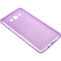 Чехол силиконовый цветной Samsung A700 A7 2015 фиолетовый