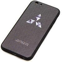 Чехол силиконовый MITSUBISHI CARBON для iPhone 6S черный