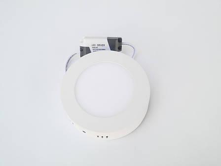 Светодиодный накладной 6w круглый MOTOKA 4000k, фото 2