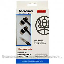 Наушники с микрофоном Lenovo 204 черные