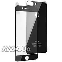 Защитное стекло iPhone 7 Plus на обе стороны глянец (черный)