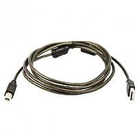 Кабель USB - USB Type B штекер для принтера с фильтром 1.8m черный