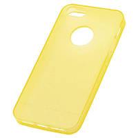 Чехол силиконовый iPhone 5/5S матовый желтый