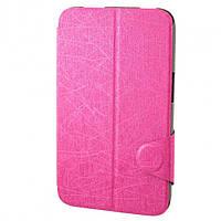 Чехол-книжка для Lenovo IdeaTab A1000 пластиковая накладка Flip Cover Розовый