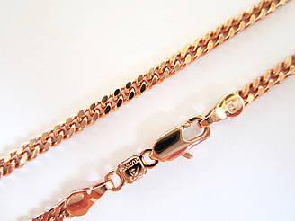 Цепочка плетение Классическое под советское золото 50 см ширина 3 мм