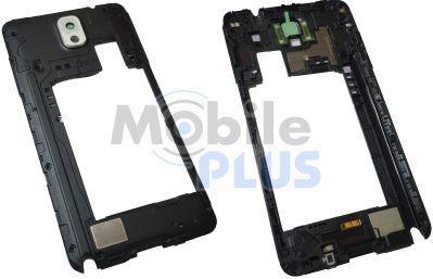 Средняя часть корпуса с антенной, окошком камеры и музыкальным динамиком Samsung N9005, White, original (PN:GH96-06544B)