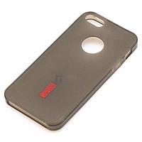 Чехол силиконовый+пленка для iPhone 5/5S matte затемненный