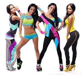 Женские костюмы для фитнеса