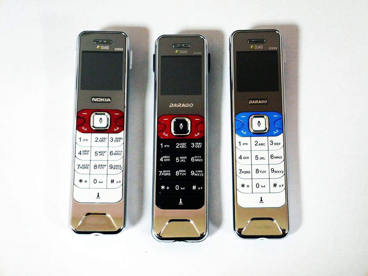 """Телефон NOKIA DARAGO D999 - 2sim -1.5"""" - Fm- Bt - Cam - фонарик - светодиодная подсветка кнопок"""