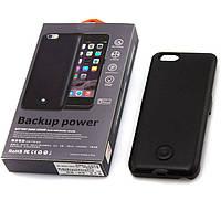 Чехол-аккумулятор X2 для iPhone 6-6S Black Skin