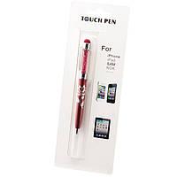 Стилус емкостный Touch Pen Swarovski с авторучкой красный