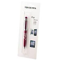 Стилус емкостный Touch Pen Swarovski с авторучкой сиреневый