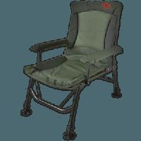 Robust Armchair (Экстра сильное рыбацкое кресло с чехлами на подлокотниках с регулируемыми ножками и наклоном спинки, размер: 55x55x43/103 см, вес