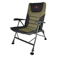 Recliner Armchair (Удобное рыбацкое кресло с подлокотниками с регулируемыми ножками и наклоном спинки, размер:  52x46x38/100см, вес 5,9кг)