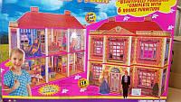 Дом для кукол 6983 с мебелью, 2 этажа 6 комнат