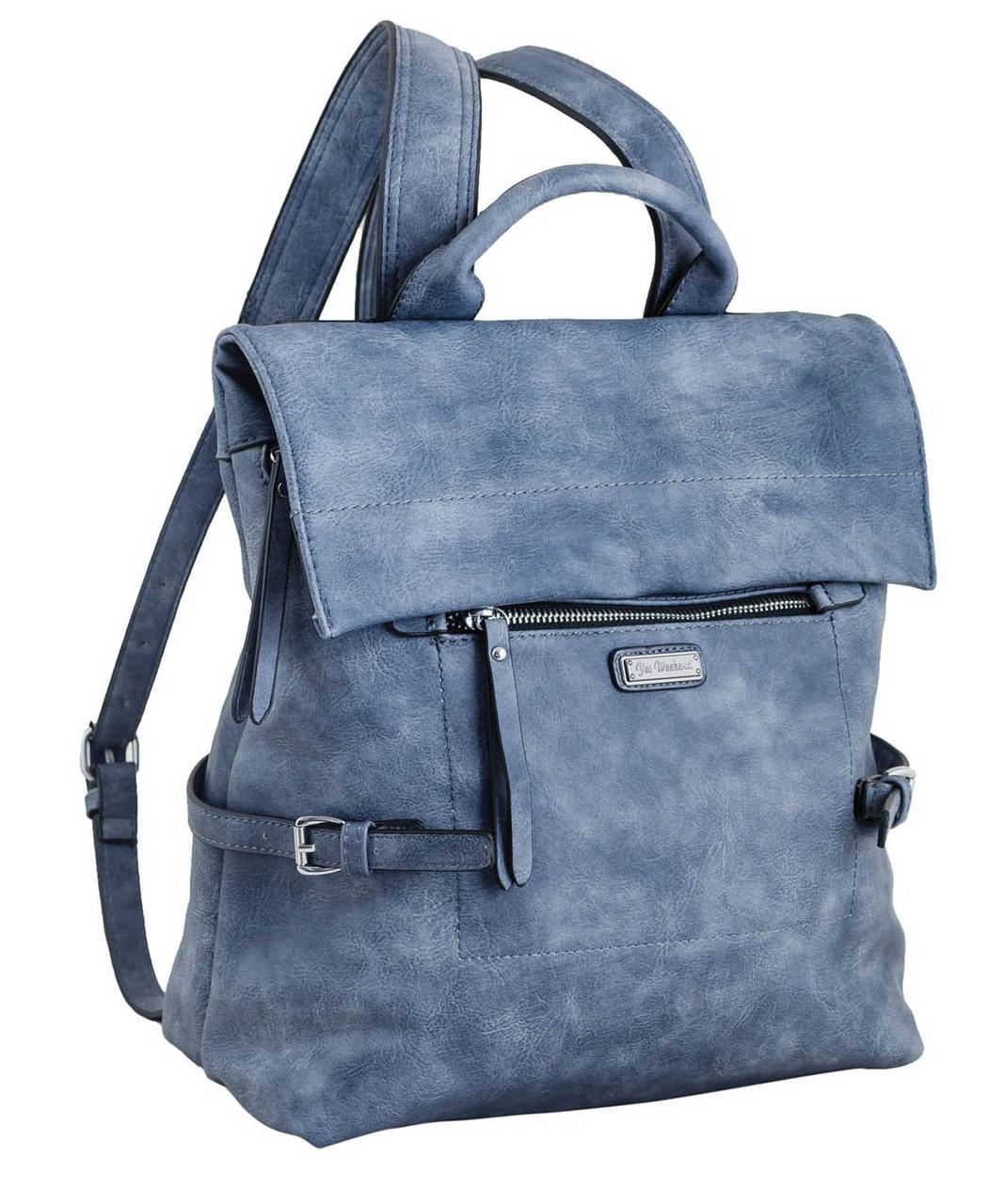 1d94b7b4206c Женская сумка-рюкзак из экокожи 1 ВЕРЕСНЯ, 553218 синий 11 л ...