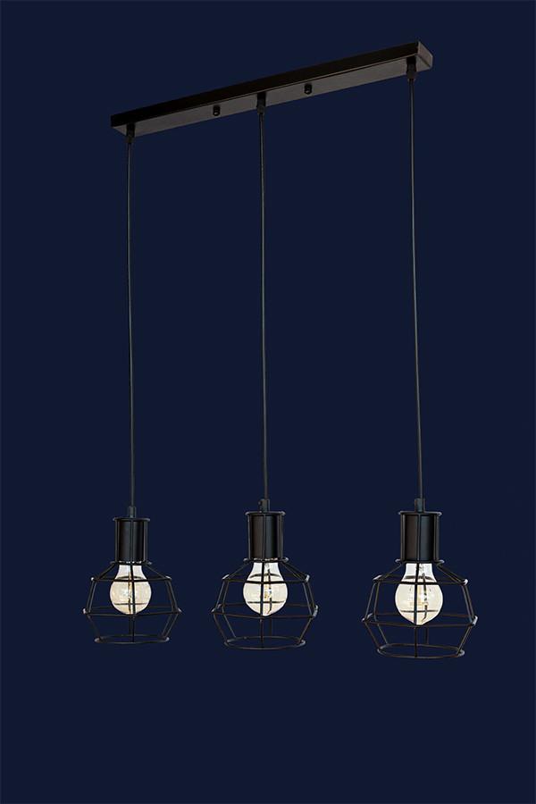 Светильник подвесной LOFT L56PR1618F-3 BK(500)