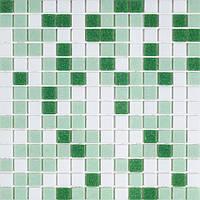 Мозаика стеклянная светло-зеленая GLmix200