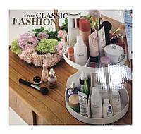 Подставка, органайзер для косметики круглая Style Classic Fashion