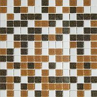 Мозаика стеклянная светло-коричневая GLmix300