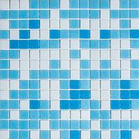Мозаика стеклянная светло-голубая GLmix100