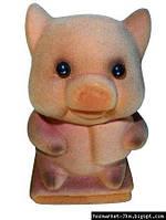 Копилка - свинка замшевая (Уценка)
