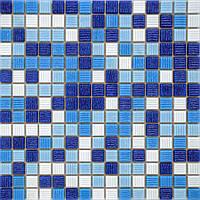 Мозаика стеклянная голубая GLmix8